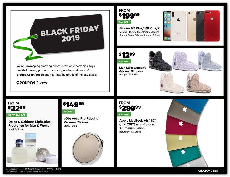 Groupon Black Friday page 1